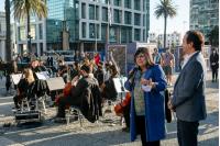 Orquesta juvenil en Plaza Independencia