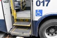 Inspección a ómnibus de transporte público