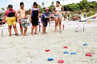 Tejo inclusivo en playas de Montevideo
