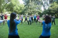 Actividad deportiva en el Jardín Botánico
