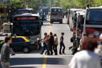 Transporte en la Avenida 18 de julio.