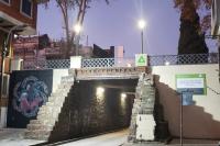 Iluminación sobre puente de la calle Galicia