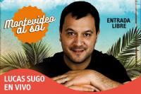 Lucas Sugo en la playa