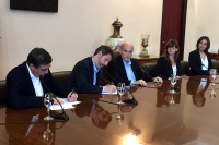 Firma convenio Cocina Uruguay Fundación Telefónica