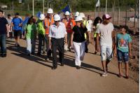 Recorrida por urbanizacion en el barrio Peñarol