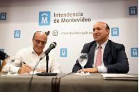 Firma de contrato de obra por túnel de Avenida Italia