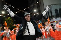 Ariel «Pinocho» Sosa en el desfile de Carnaval 2019