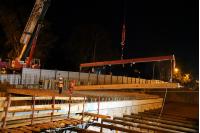 Obras para la construcción del túnel de Avenida Italia