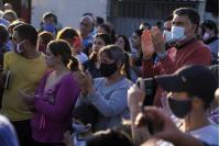 Inauguración de línea 155 en barrio Nueva España