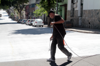 Pintura de calle para desfile de LLamadas