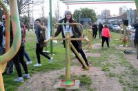 Inauguración de juegos saludables en Plaza nº 12, instalados por personas privadas de libertad.