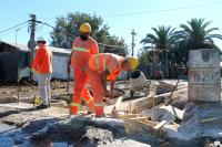 Obras en el barrio Marconi