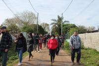 Recorrida por barrio 24 de enero por inicio de obras del Plan ABC