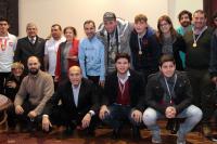 Reconocimiento a equipo unitario de fútbol de las olimpiadas especiales