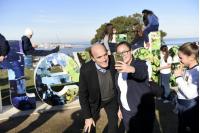 Inauguración de la intervenciòn de las letras de Montevideo del Cerro
