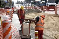 Obras en túnel Avenida Italia