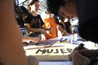 Inauguracion de la plaza Las Pioneras