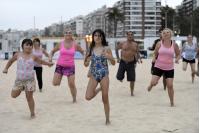 Clases de fitness en la Playa de los Pocitos