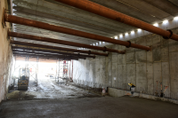 Recorrida por obras del túnel de Avenida Italia