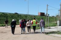 Recorrida por barrio Maracaná Sur por obras del Plan ABC