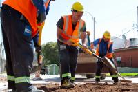 Obras viales en la calle Héctor Gerona  y Rambla Euskal Erría