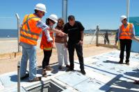 Inauguración de obras de saneamiento en playa Santa Catalina
