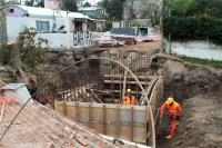 Obras de saneamiento en Playa Santa Catalina.