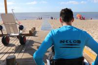 Rampa accesible en Playa Pocitos