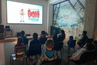 Cine foro en el PTI del Cerro para público infantil por el Día de la Niñez