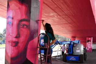 Intervención artística en el Viaducto de Paso Molino