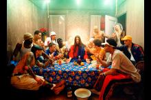 David LaChapelle, La última cena. Nueva York, 2003. Jesus is my Homeboy. Impresión cromogénica, 176 x 240 cm