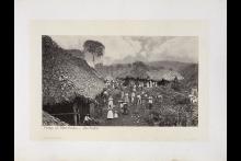 Village of Coffee Pickers, Hacienda Las Nubes, Guatemala. Año 1875. Autor: Eadweard Muybridge. Cortesía de Stanford University Libraries Collection.