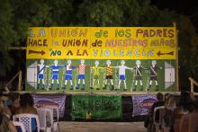 Tablado Club Holanda. Escenario Lucho El Tío Súarez. Barrio Casabó.