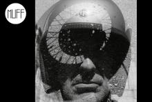 Autorretrato. Moto dadaísta. (2014)  Fotografía en papel baritado con tratamiento de archivo al selenio.  Papel 50x60 cm. Tamaño de mancha 47x47 cm.