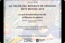 Charla, 3er Salón del Mosaico en Uruguay. Arte Musivo 2019