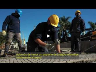 Obras en Plaza Larocca 2020