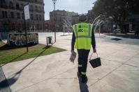 Trabajos de mantenimiento en Plaza de Deportes Nº1 en el marco del Programa ABC Oportunidad Trabajo