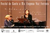 Recital de canto lírico a María Eugenia Vaz Ferreira