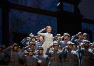 "A scene from Donizetti's ""La Fille du RŽgiment"" with Natalie Dessay as Marie.  Photo: Ken Howard/Metropolitan Opera  Taken during the final dress rehearsal on April 18, 2008 at the Metropolitan Opera in New York City."